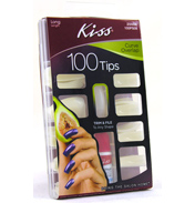 KISS Curve Overlap Nail Set Long Length (100 Tips)